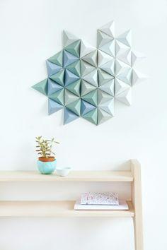 waende gestalten wandgestaltung farbgestaltung dreiecke 3D