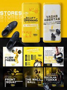 Social Media Branding, Social Media Banner, Social Media Template, Social Media Design, Fitness Design, Gym Design, Thumbnail Design, Academia Fitness, Feeds Instagram