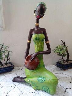 Africana  Masai African Dolls, African Art, Human Sculpture, Sculptures, African Figurines, African American Artwork, Clay Fairy House, African Paintings, Clay Fairies