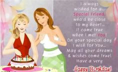 Free Friendship Birthday Ecards ~ Birthday greetings for a special friend times free for your