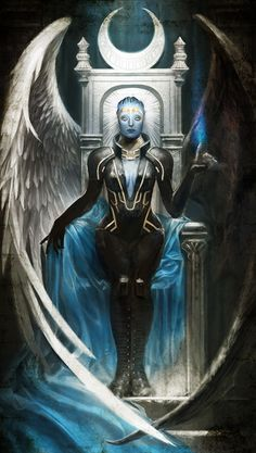 nanananananablr:  The High Priestess : Samarahttp://masseffectcl.wix.com/tarotcard