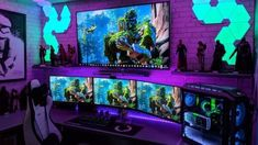 Best Video Game Room Ideas [A Gamer's Guide] Tags: Gaming room setup ideas, vide. Best Video Game Room Ideas [A Gamer's Guide] Tags: Gaming room setup ideas, video game room ideas Gaming Desk Setup, Computer Gaming Room, Best Gaming Setup, Gamer Setup, Computer Setup, Pc Setup, Gaming Chair, Computer Laptop, Computer Technology
