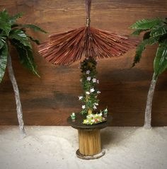 Illuminated Miniature Hawaiian Bar Table by DinkyWorld on Etsy