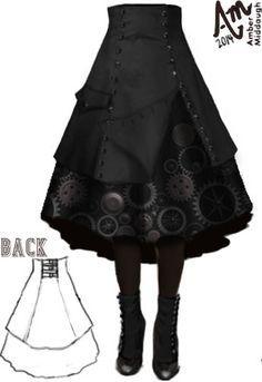 Steam Punk Gear Skirt