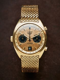 """Lot 2. Heuer Carrera, """"Tachy"""", Mr. Ronnie Peterson's gift to his father Bengt"""". An exact copy of of the Heuer Carrera that Ronnie wore himself."""