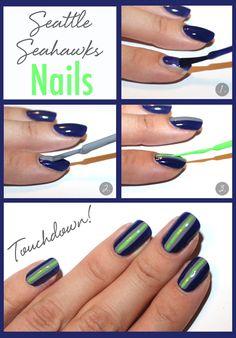 Seahawks NFL Nails
