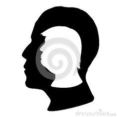 Donald Trump and Barack Obama silhouettes, vector file, illustration