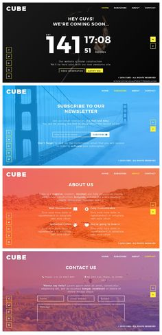 CUBE is a modern good looking coming soon / under construction bootstrap template. #webmaster #webdesign #ComingSoonTemplate Download Now!
