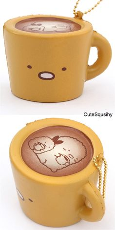 soft mug sponge squishies charm with San-X characters, NIC, cute squishy of brown mug with shy cutlet., cute soft sponge squishies charm for bag, key etc. Girl Toys Age 5, Toys For Girls, Cool Squishies, Slime And Squishy, Kawaii Plush, Cute School Supplies, Modes4u, Its My Bday, Toys