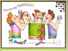 "Art Impressions Girlfriends ""In the tub"" UM3570 Colored using Copic Markers"