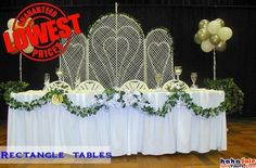 Rectangle Table, Banquet Tables, Wreaths, Table Decorations, Interior, Design, Home Decor, Decoration Home, Door Wreaths