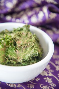 Satay Kale chips so delicious you'll forget they are loaded with kale, more than that, they ARE kale! So easy, you may not want to eat kale any other way! Paleo Kale Recipes, Kale Chips, Almond Butter, Paleo Diet, Guacamole, Food Print, Crisp, Cravings