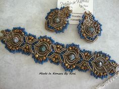 Bracelet and earrings from Made In Kansas By Rosi... on Facebook.