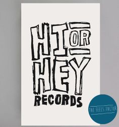Hi or Hey Records Canvas  5SOS Screen Printed by TheFeelsFactor, $17.00 oh god i think idek hallpp