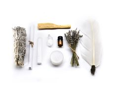 Energy Cleansing Ritual Kit with Sage, Lavender, Selenite, Palo Santo, and Quartz Salvia, Do It Yourself Furniture, Wood Sticks, Perfume, Smudge Sticks, Small Bottles, Pillow Box, Lemon Essential Oils, Good Energy