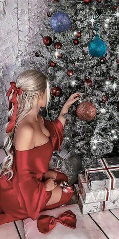 Xmas Gif, Merry Christmas Gif, Christmas Scenes, Christmas Pictures, Christmas Art, Christmas And New Year, Winter Christmas, Vintage Christmas, Santa's Little Helper