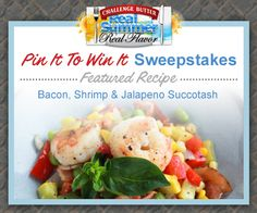 Featured recipe of the week: Bacon, Shrimp & Jalapeno Succotash- Recipe by Good Cook