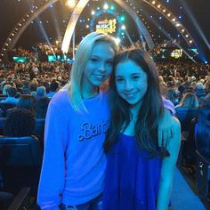 me and my friend at the Radio Disney Music