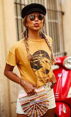 10 Mix of simple and simple prints: complete guide - Fashion Trends Look Fashion, Girl Fashion, Fashion Outfits, Summer Outfits, Casual Outfits, Cute Outfits, Look Boho Chic, Sincerely Jules, Surfer Girl Style
