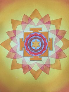 Sun Yantra Mandala created by Robin during SacredPainting Haridwar Workshop. #yantra #mandala