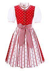 Classic red and white girlls' Dirndl. Kinderdirndl günstig bei Alpenwelt | Dirndl für Kinder
