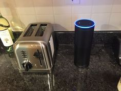 The Echo can live on your kitchen counter. Alexa Dot, Alexa Echo, Alexa Voice, Amazon Echo, Everything, Counter, Technology, Live, Kitchen