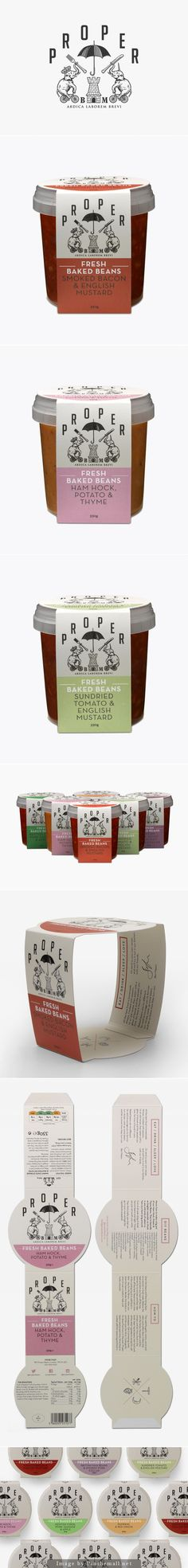 Proper Beans designed by Interabang, as seen on bpando.org. Pin curated by SFieds99. #packaging