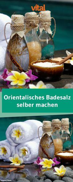 Orentalisches Badesalz mit Sandelholz, Ylang-Ylang und Yasminöl selber machen