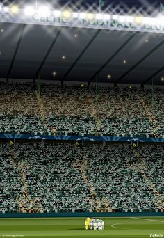 Celtic FC Celtic Park Art Celtic Park'​ The boys in green huddle as 'You'll never walk alone' rings around Celtic park before an unforgettable game against Barcelona in Soccer Practice, Soccer Skills, Soccer Tips, Football Soccer, Team Wallpaper, Iphone Wallpaper, Good Soccer Players, Celtic Fc, You'll Never Walk Alone