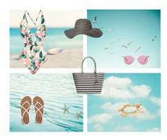 """""""beach"""" by elmat ❤ liked on Polyvore featuring Billabong, Old Navy, Kate Spade, Oliver Peoples and Lilly Pulitzer"""