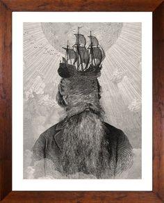 Dan Hillier, Lunar Seas (for W.A.H.), screenprint.
