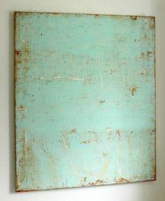 "Love this. Saatchi Art Artist Christian Hetzel; Painting, ""rusty mint"" #art"