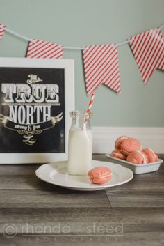 Red and white Canada Macarons | Just Rhonda