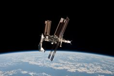 Space Shuttle Endeavor Docked To The International Space Station - During the Space Shuttle Endeavour's last trip to the ISS in 2011 May, a supply ship departed the station with astronauts that captured a series of rare views.