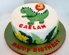 Dinosaur Birthday Cake for Young Boy