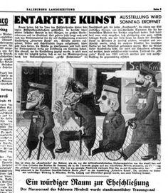 """Salzburg. """"Kriegskrüppel"""" von Otto Dix als Negativ-Propaganda für die Prangerschau """"Entartete Kunst"""" im Festspielhaus."""