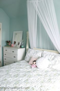 Girls room-- in blue! Simply Shabby Chic by Target bedding