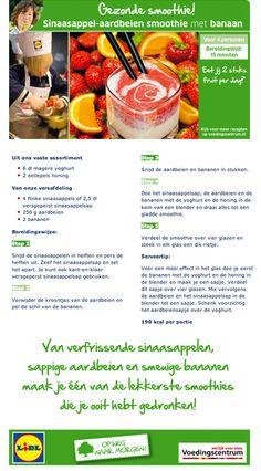 Sinaasappel -aardbeien smoothie met banaan - Lidl Nederland