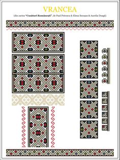 Model Vrancea Cross Stitch Borders, Cross Stitching, Cross Stitch Patterns, Beading Patterns, Knitting Patterns, Laser Cut Patterns, Fantasy Concept Art, Embroidery Motifs, Pixel Art