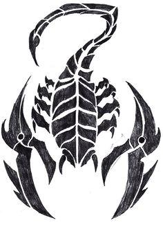 Tribal Scorpion Tattoo Drawing