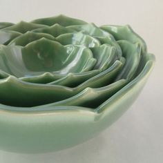 Lotus nesting bowls. I'd use one in the bedroom, the bathroom, the kitchen and wherever I can sneak one.