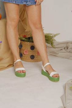 Yvon Green (Limited Ed) Day And Time, Espadrilles, Green, Shoes, Fashion, Espadrilles Outfit, Moda, Shoe, Shoes Outlet