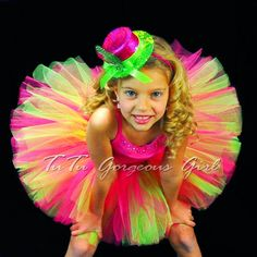 Bright Hot Pink and Green TutuBirthday Dance by TutuGorgeousGirl, $27.00