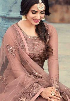 Buy Sonal Chauhan Dusty georgette wedding anarkali in UK, USA and Canada Bridal Anarkali Suits, Anarkali Dress, Pakistani Dresses, Lehenga, Indian Gowns, Indian Attire, Indian Wear, Indian Wedding Outfits, Indian Outfits