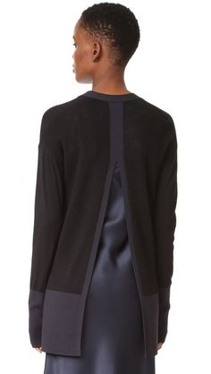 DKNY Cardigan with Slit Back