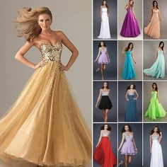NewHomecoming Chiffon Evening Formal Prom Party Ball Gown Bridesmaid Dress Stock