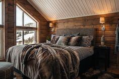 Mountain Cabin Decor, Lodge Bedroom, Cabin Interiors, Cozy Cabin, Dream Rooms, Villa, Interior Design, Future, Rustic Modern
