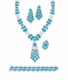A TURQUOISE AND DIAMOND SUITE, BY PEDERZANI