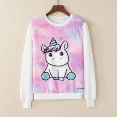 Cartoon unicorn Sweatshirt