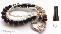 Whimsical and pretty bracelet perfect for prom night!